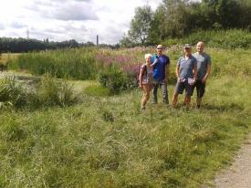 Planning the Mad Hatter, Reddish Vale, July 2014